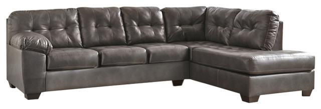 Pleasing Alliston Sectional With Right Side Facing Chaise Gray Durablend Caraccident5 Cool Chair Designs And Ideas Caraccident5Info