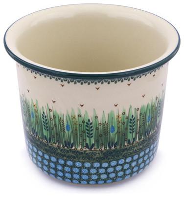 Polmedia Polish Pottery 9 Stoneware Planter Mediterranean Indoor Pots And Planters By Polmedia Polish Pottery