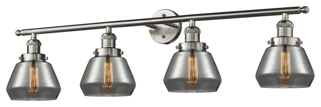 Talista 4 Light Antique Bronze Bath Vanity Light With: Fulton 4-Light Bath Vanity Antique Copper Clear Glass
