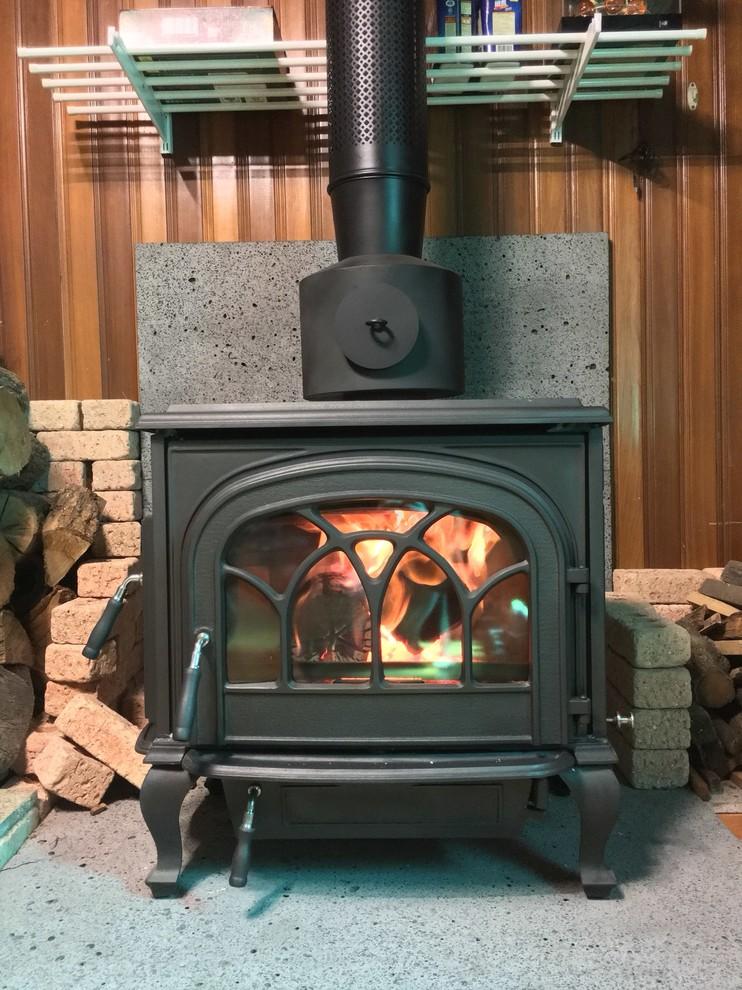 hiflame stallion extra large cast iron wood stove with
