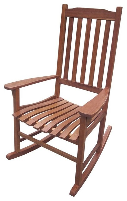 Traditional Acacia Hardwood Rocking Chair contemporary-rocking-chairs