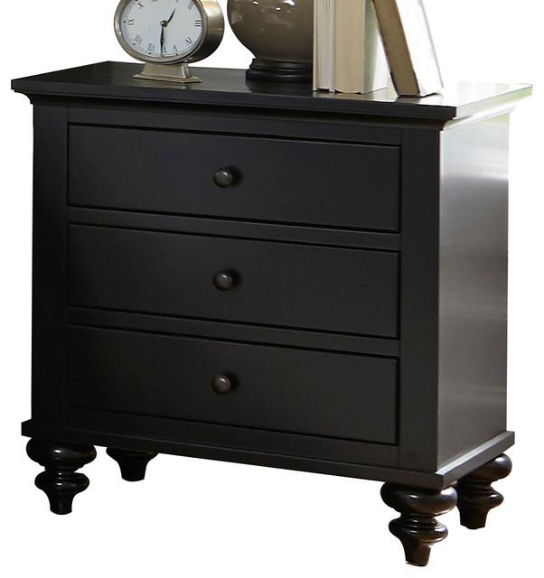 Liberty Furniture Hamilton Iii 3 Drawer Nightstand Black