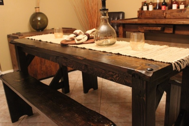 medieval dining room table | Medieval Collection Dining - Rustic - Dining Tables ...