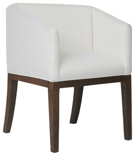Keith Linen Dining Chair, White