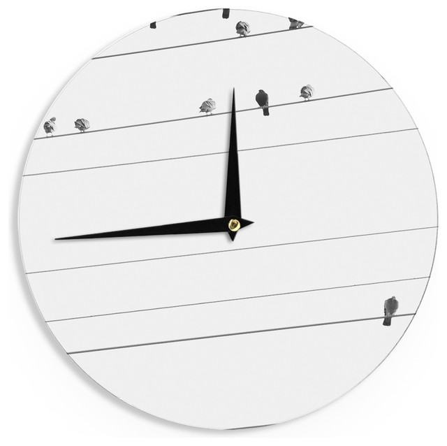 qing ji birds on wire wall clock 12 contemporary wall clocks rh houzz com Battery Isolator Wiring- Diagram Home Electrical Wiring Diagrams