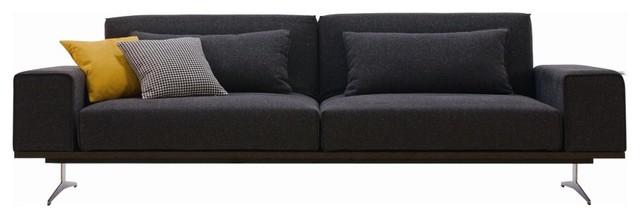 Modern Fabric Sofa Bed, Gray modern-futons