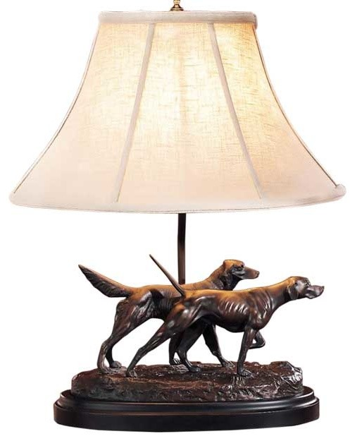 Pair of Pointing Dog Lamp contemporary-table-lamps