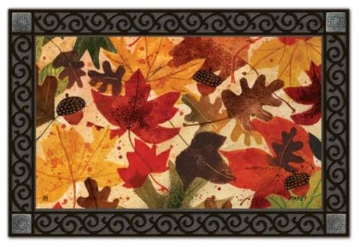 Colorful Fall Leaves Mat Mate.