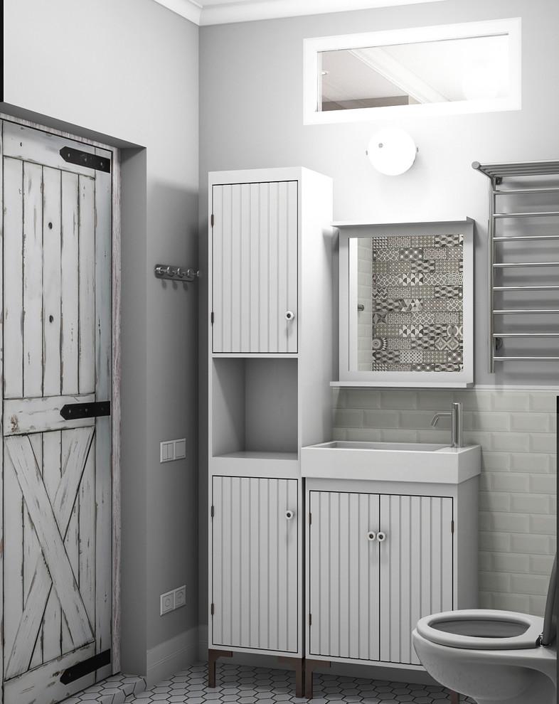 Квартира в американском стиле: ванная комната