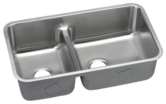 Elkay Ertone Stainless Steel 40 60 Double Bowl Undermount Sink With Divide