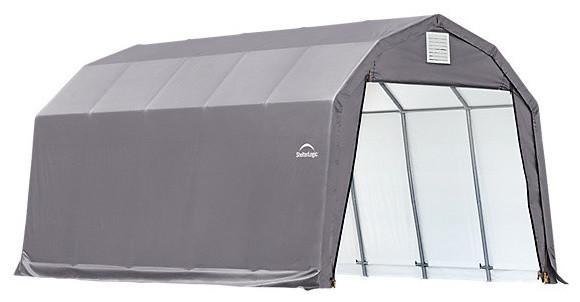 12&x27;x20&x27;x11&x27; Barn Style Shelter, Gray.