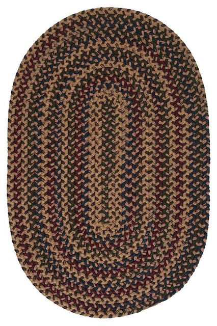 Braided midnight area rug contemporary hall and stair for Contemporary runner rugs for hallway