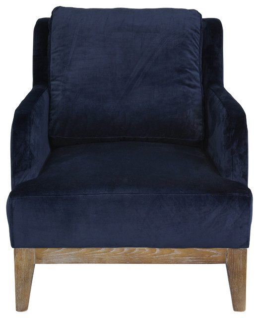 Keswick Navy Blue Club Chair By Kosas Home Armchairs And Accent