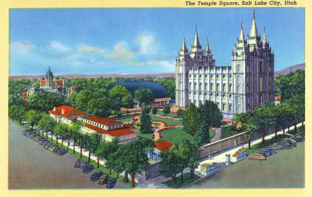 Quot Salt Lake City Utah Aerial View Of The Temple Square