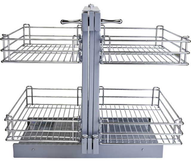 Blind Corner Universal Metal Corner Pull-Out - Contemporary - Pantry And Cabinet Organizers - by ...