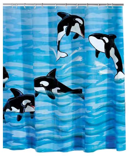 Whale PVC Free Shower Curtain Orca