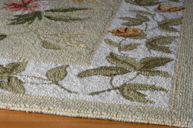 Spencer Hand-Knotted Rug, Sage, 5'x8'