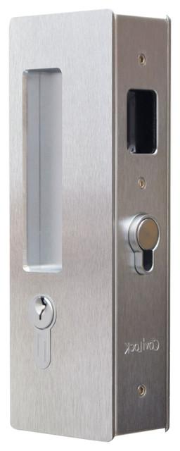 Cavilock Magnetic Keyed Pocket Door Lock Satin Chrome 1 3 8