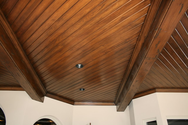 matot mouldings tongue and groove patio ceiling - miami -matot