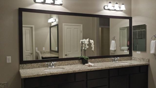 Delicieux Las Vegas Master Bathroom Mirror And Vanity Mirror (Before And After)  Contemporary