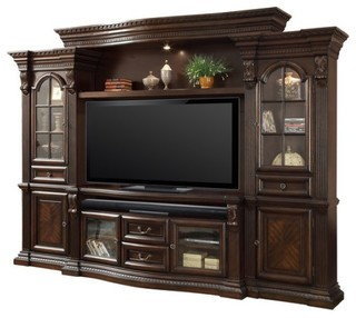 Parker House Bella Wall Entertainment Center - Traditional - Entertainment Centers And Tv Stands ...