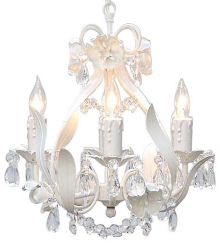 Yvette Crystal Chandelier: Gallery T40-423 Wrought Iron 4 Light 1 Tier Crystal Mini