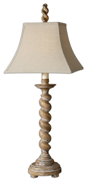 Ballao Twist Wood Table Lamp Traditional Table Lamps By