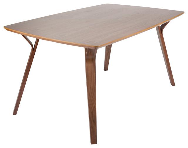 Lumisource Folia Dining Table, Walnut Wood