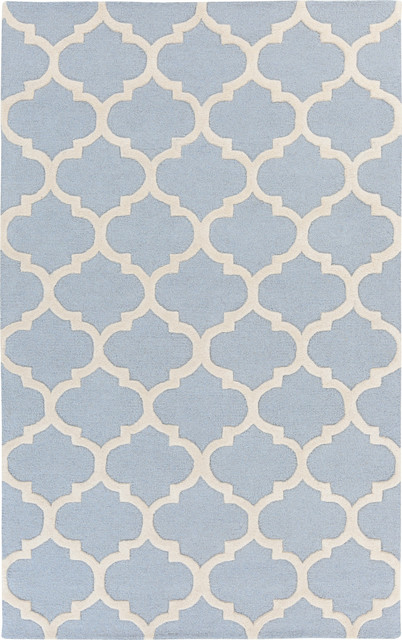 Artistic Weavers Pollack Stella Light Blue, White 4' x 6' Rug contemporary- - Artistic Weavers Pollack Stella Light Blue, White Rug
