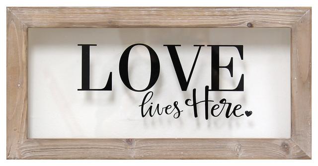 Stratton Home Decor Love Lives Here Framed Art.