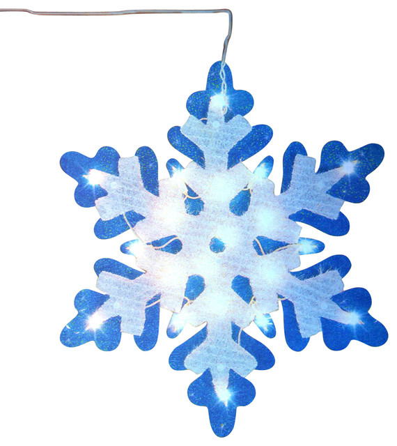 Impact lighted tinsel snowflake christmas window for 18 lighted christmas tree with stars window silhouette decoration