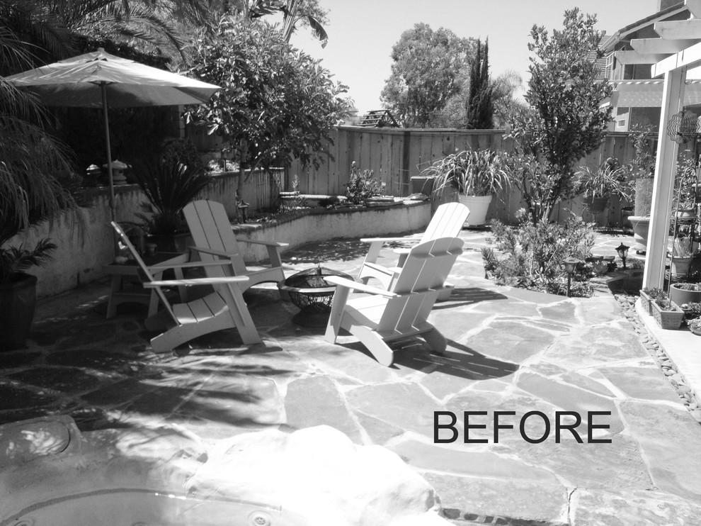 BEFORE photo of unused backyard