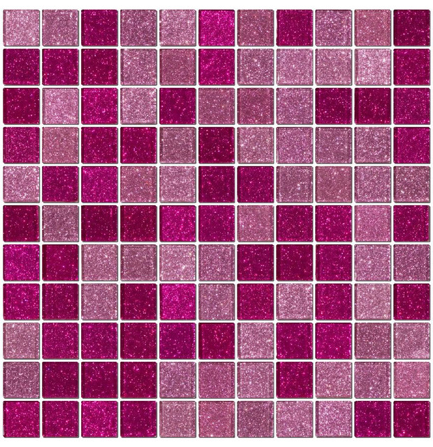 Pink Slippers Glass Tile, Full Sheet.