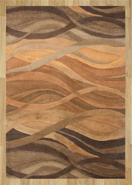 Alliyah Rugs Z N Z Rug Gallery 20050 Brown, Rust, Caramel 6u0027 Round