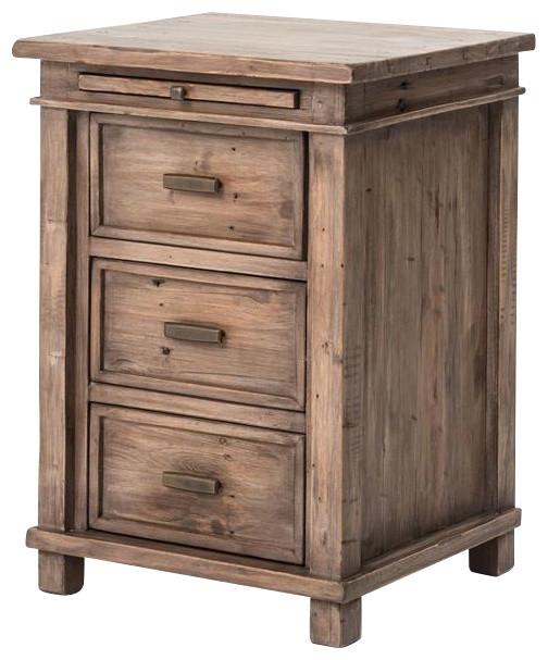 Image gallery wood nightstands for Rustic nightstands