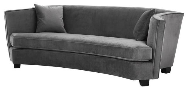 Eichholtz Giulietta Velvet Sofa, Grey
