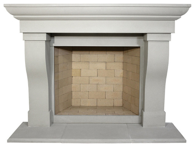 Berkley Cast Stone Fireplace Mantel Traditional Mantels By Devinci