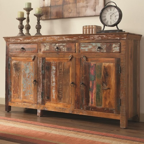 Rustic Cabinet With Doors.