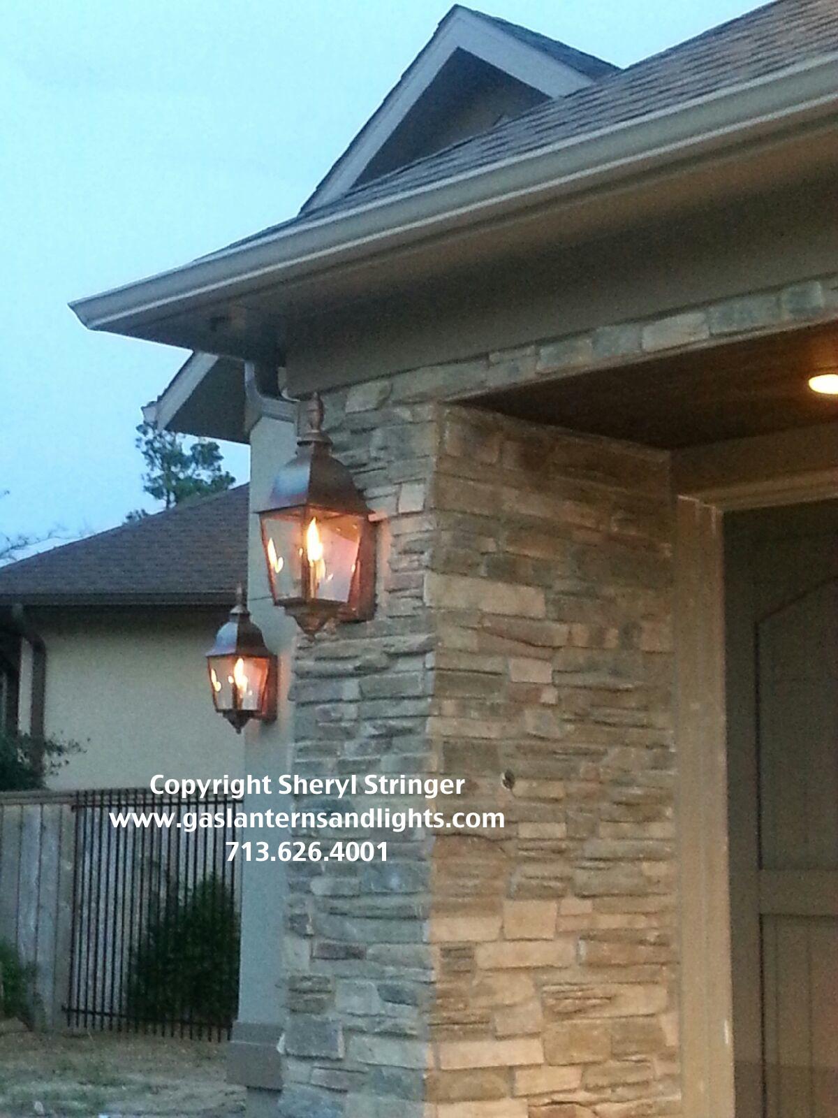 Tuscan Gas Lanterns by Sheryl Stringer