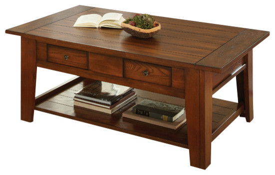 Steve Silver Desoto 4 Piece Coffee Table Set With Casters In Dark Oak