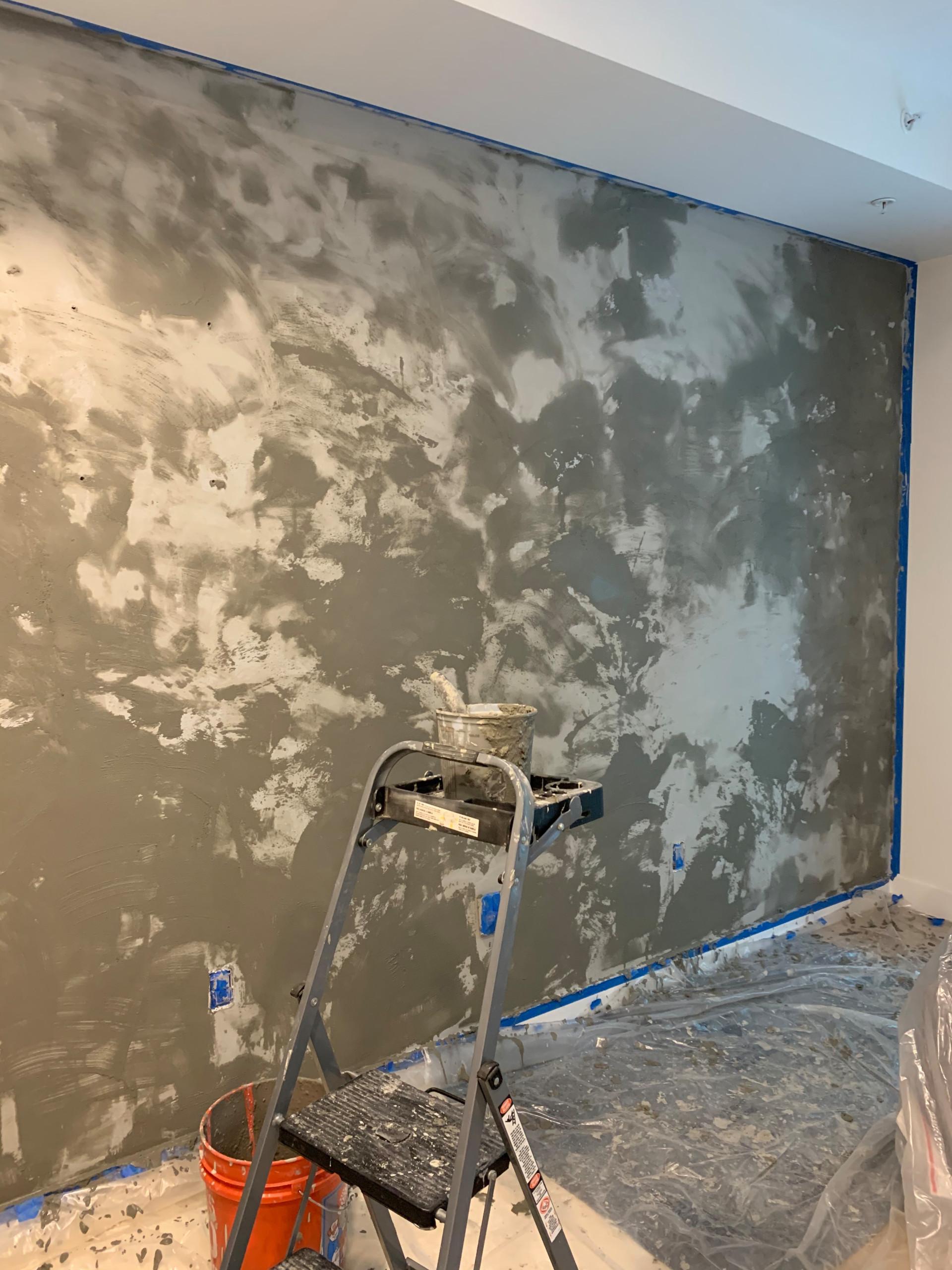 Concrete Plaster Wall Finish