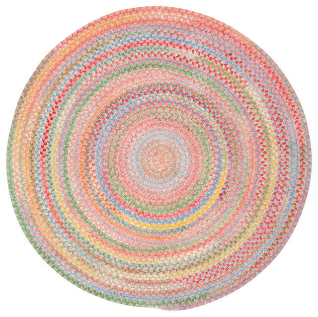 Capel Rugs Baby S Breath Braided Round Rug Pink View