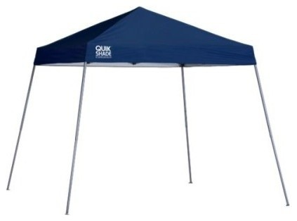 Shelter Logic 10&x27;x10&x27; Quik Ex64 Slant Leg Canopy, Twilight Blue.