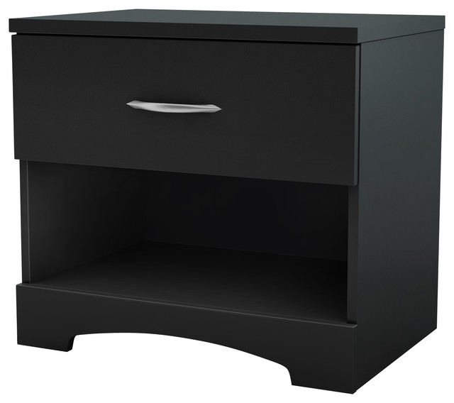 South Shore Step One Night Stand, Pure Black.