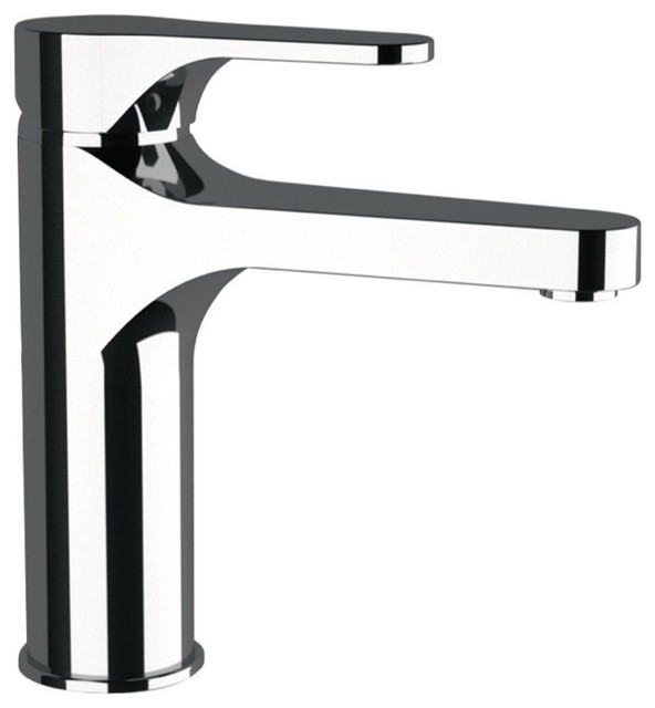Extended Neck Bathroom Sink Faucet Chrome Contemporary