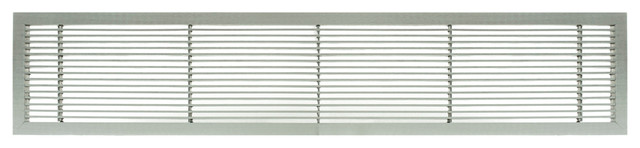 "Ag10 2.25""x12"" Aluminum Fixed Bar Air Vent Grille, Brushed Satin, Brushed Satin."