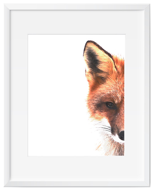 Fox Wall Art up close clever fox in color wall art - contemporary - prints and