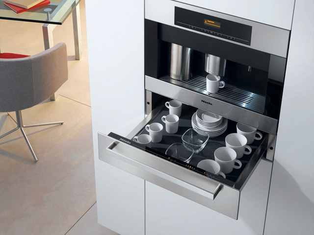 Miele Cva4066 24 Built In Whole Bean Coffee System Plumbed Contemporary