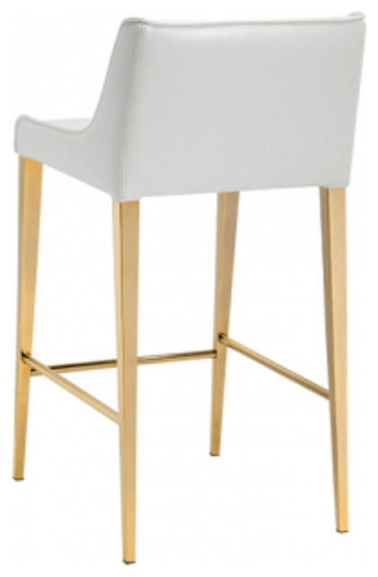 Artefac Gold Legs Leather Stool Bar Stools And Counter