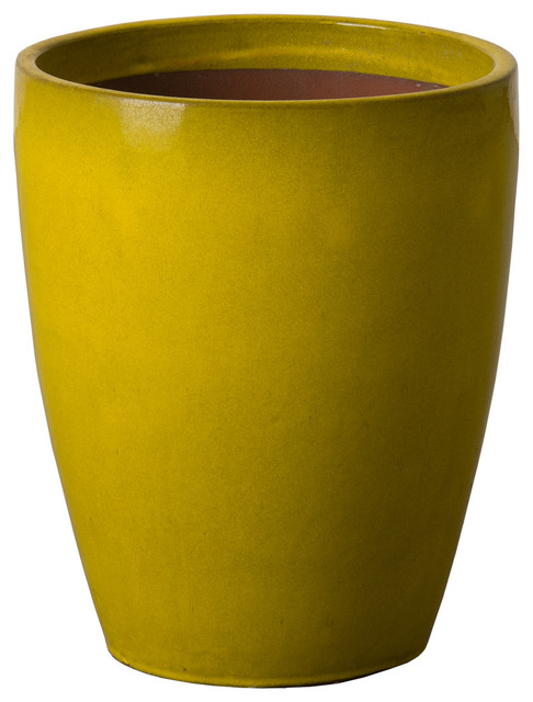 Bullet Planter Mustard Yellow Contemporary Outdoor Pots And Planters By Hedgeapple